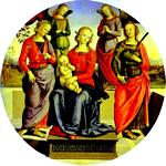 Pietro Perugino - The Virgin and Child Surrounded by Two Angels, St. Rose, and St. Catherine