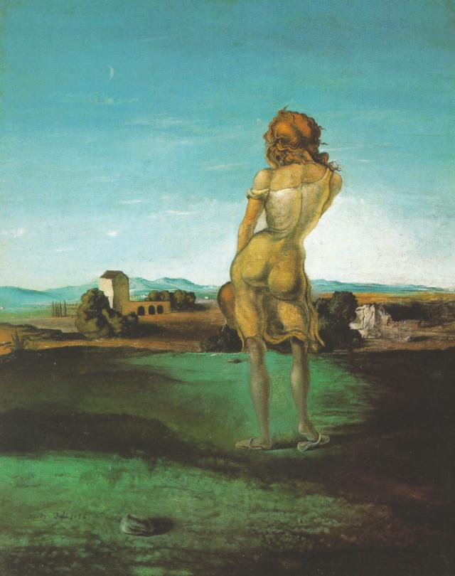 Salvador Dali >> Girl with Curls, 1926  |  (Oil, artwork, reproduction, copy, painting).