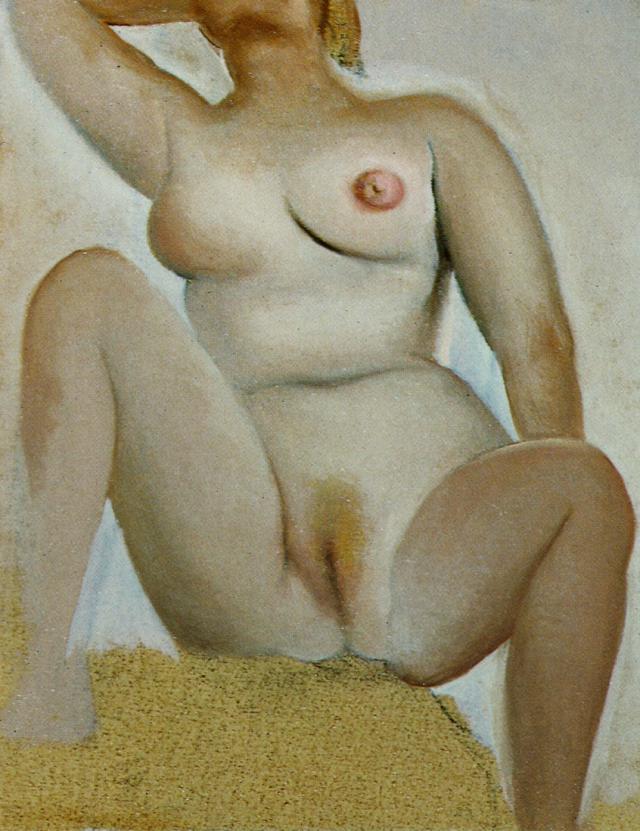 Salvador Dali - Female Seated Nude circa 1960 .