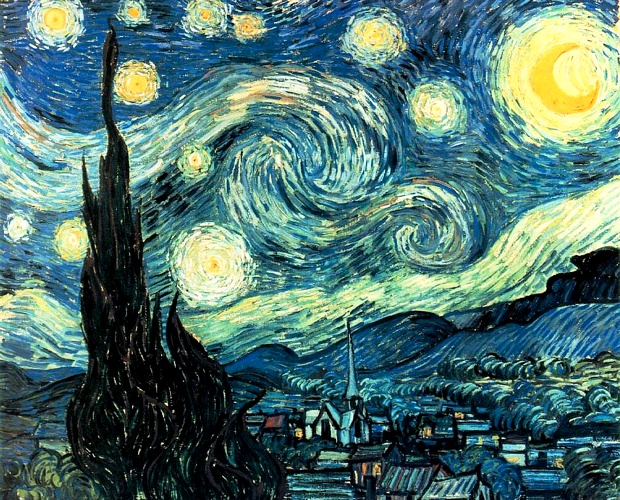 Vincent Van Gogh - The Starry Night [June 1889]