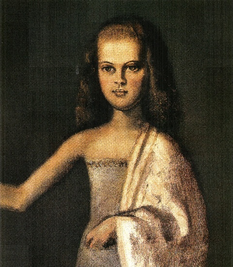 Balthus >> The duchess married Volkonsky at the age of 12 years (details) (1945)  |  (, artwork, reproduction, copy, painting).