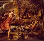 Titian - Tiziano Vecelli - The Death of Actaeon