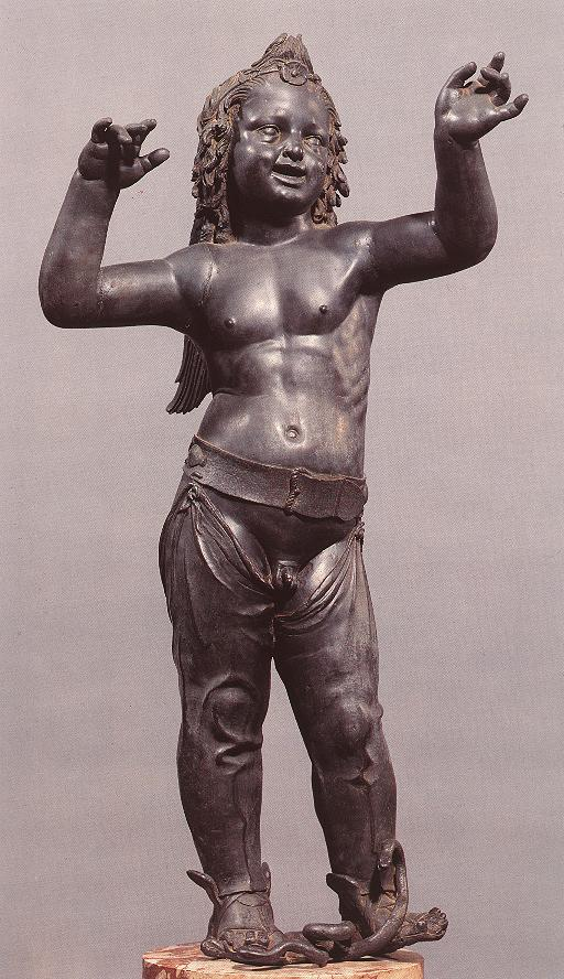 Donatello >> Allegoric Figure of a Boy (Atys), front view  |  (Sculpture, artwork, reproduction, copy, painting).