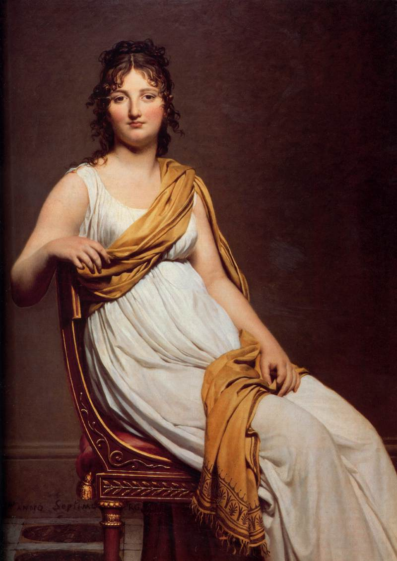 Jacques-Louis David >> Madame Raymond de Verninac  |  (Oil, artwork, reproduction, copy, painting).