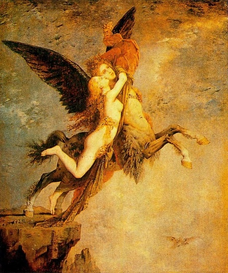 Gustave Moreau >> The chimera  |  (Oil, artwork, reproduction, copy, painting).