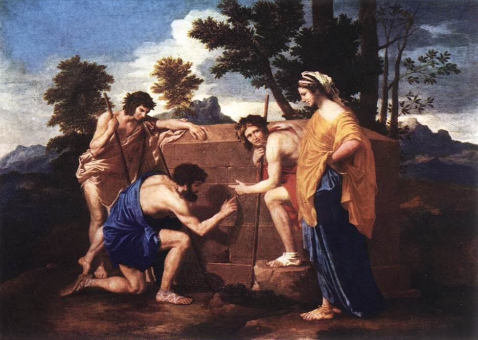 Nicolas Poussin >> Et in Arcadia Ego  |  (Oil, artwork, reproduction, copy, painting).