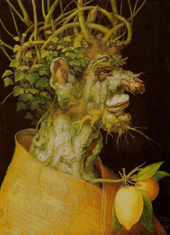 Giuseppe Arcimboldo >> Winter (L'Inverno)  |  (Oil, artwork, reproduction, copy, painting).