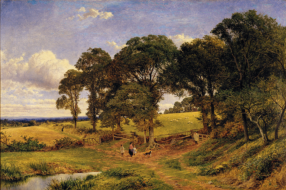 Benjamin Williams Leader >> IN THE FIELDS  |  (Oil, artwork, reproduction, copy, painting).