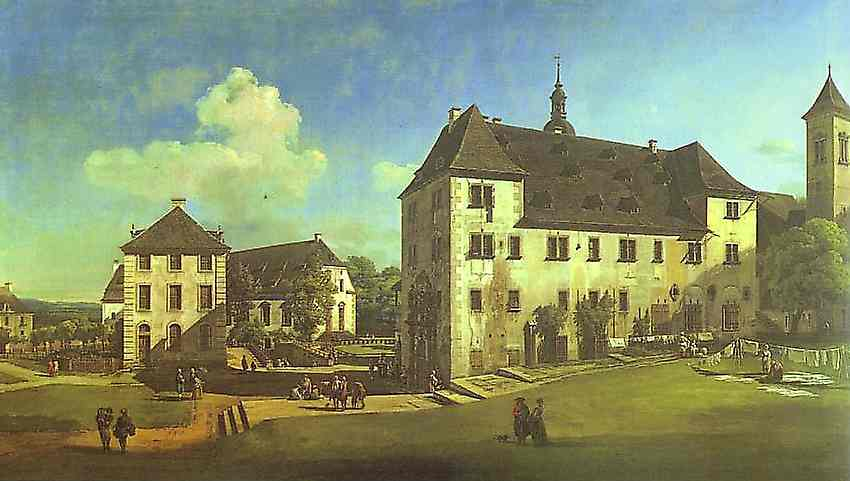 Bernardo Bellotto - Courtyard Of The Castle At Koningstein From The South