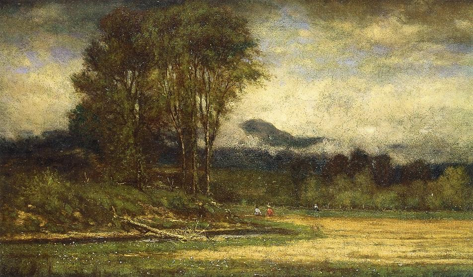 George Inness - Landscape with Pond