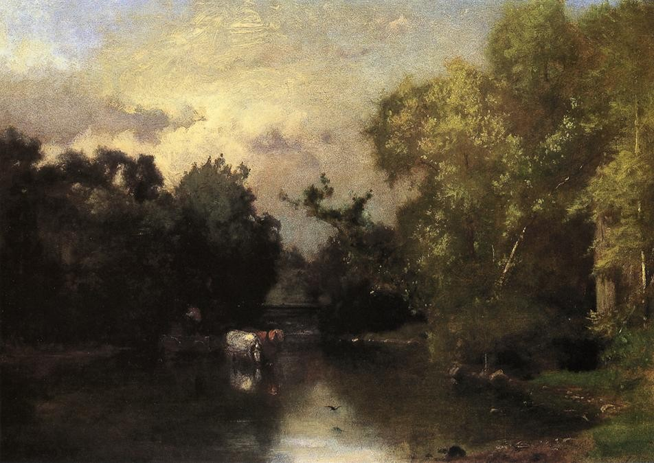 George Inness >> The Peqonic, New Jersey  |  (Oil, artwork, reproduction, copy, painting).