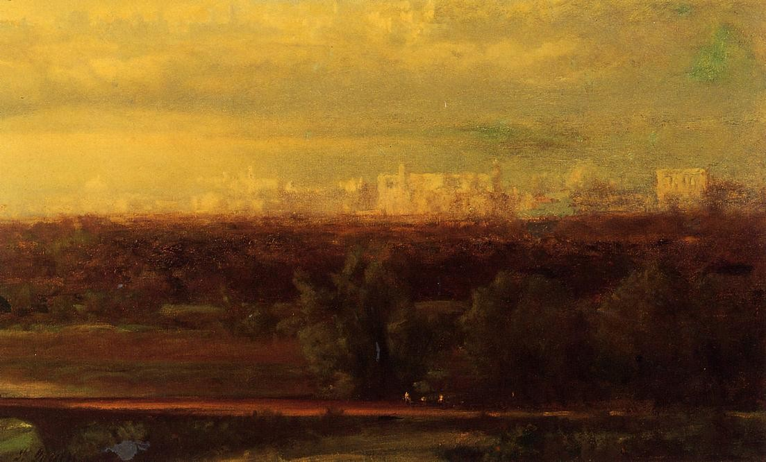 George Inness >> Visionary Landscape  |  (Oil, artwork, reproduction, copy, painting).