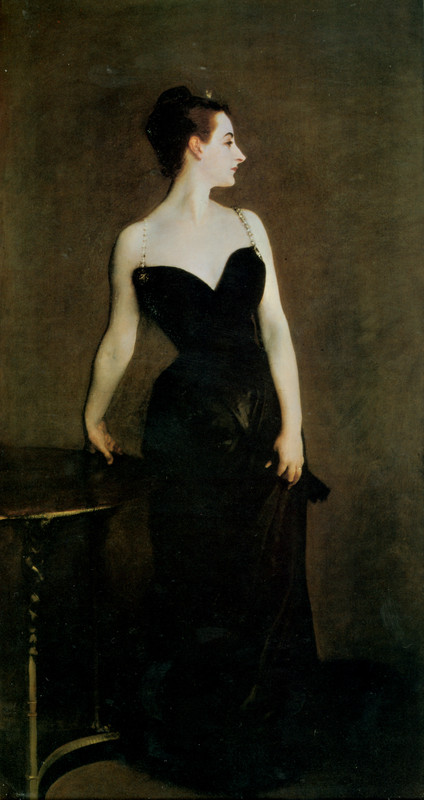 John Singer Sargent >> Madame X  |  (Oil, artwork, reproduction, copy, painting).