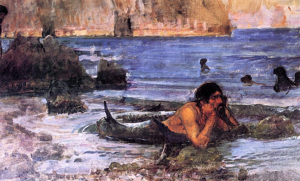 John William Waterhouse - The Merman (sketch)