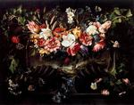 Juan de Arellano - Garland of Flowers with Landscape