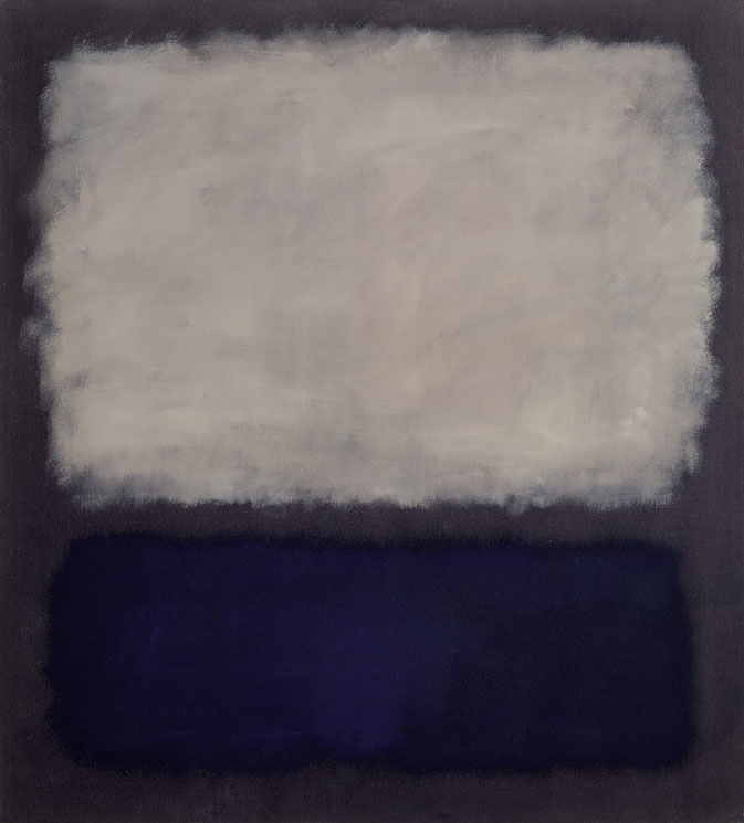 Mark Rothko (Marcus Rothkowitz) >> Blue and Gray  |  (Oil, artwork, reproduction, copy, painting).