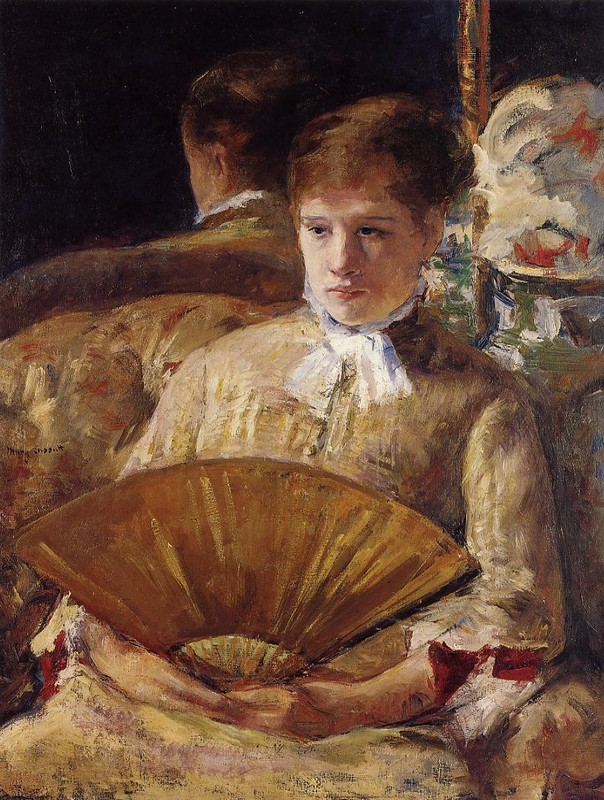 Mary Stevenson Cassatt >> Portrait of a Lady aka Miss Mary Ellison  |  (Oil, artwork, reproduction, copy, painting).