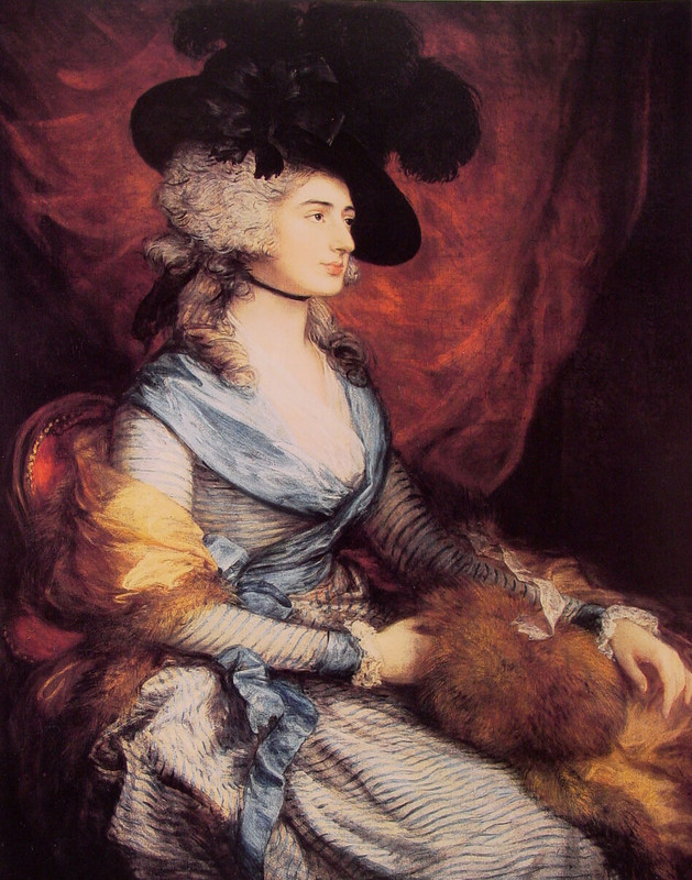 Thomas Gainsborough >> Mrs Sarah Siddons  |  (Oil, artwork, reproduction, copy, painting).
