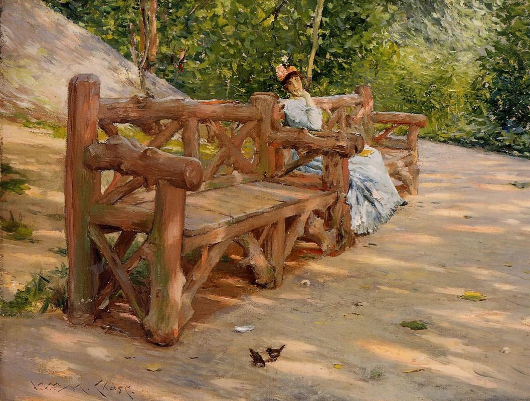 Park bench william merritt chase for Park bench painting