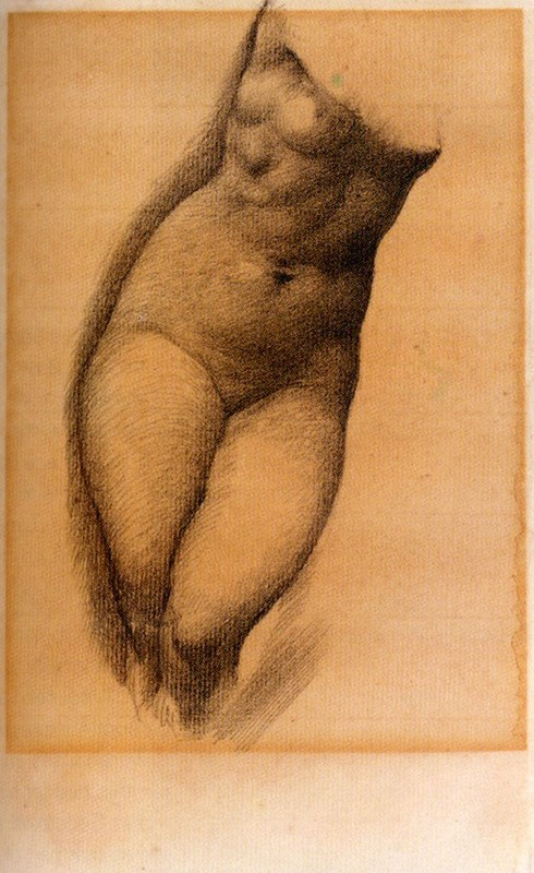 Edward Coley Burne-Jones - Study For The Figure Of Phyllis In 'The Tree Of Forgiveness'