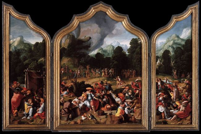 Lucas van Leyden - Worshipping of the Golden Calf