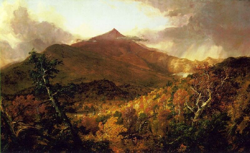 Thomas Cole >> Schroon Mountain, Adirondacks  |  (Oil, artwork, reproduction, copy, painting).