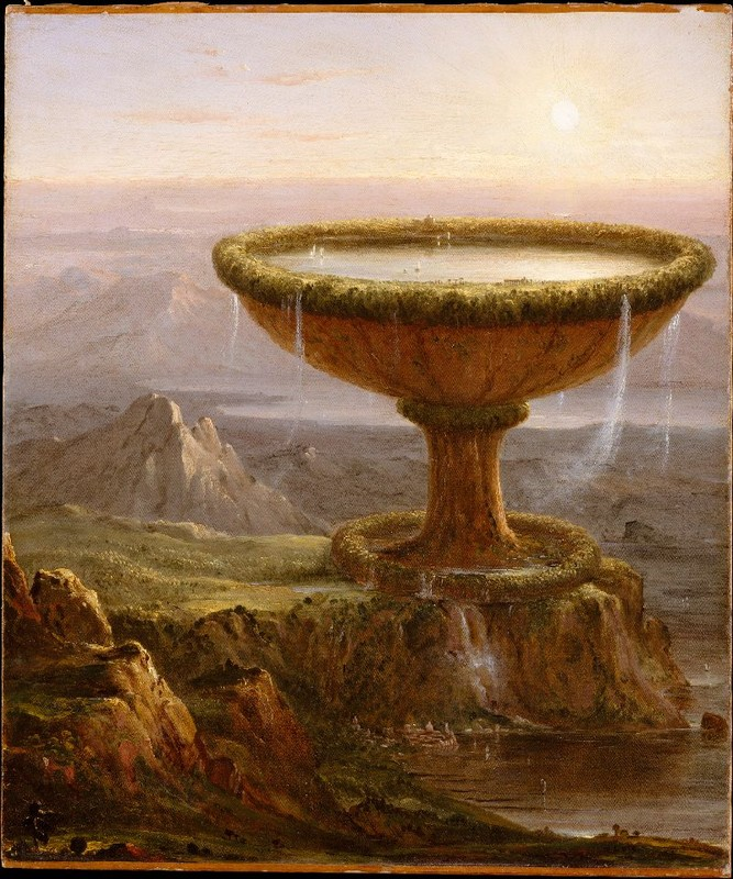 Thomas Cole >> The Titan's Goblet  |  (Oil, artwork, reproduction, copy, painting).