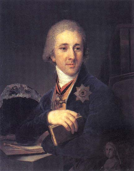 Vladimir Borovikovsky >> Portrait of Alexander Fyodorovich Labzin  |  (Oil, artwork, reproduction, copy, painting).