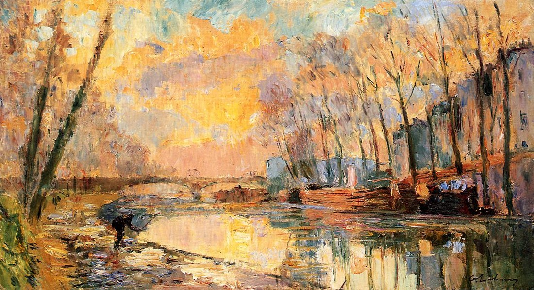 Albert Lebourg >> The Canal at Charenton  |  (Oil, artwork, reproduction, copy, painting).