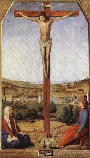 Antonello da Messina >> Crucifixion 1  |  (Oil, artwork, reproduction, copy, painting).