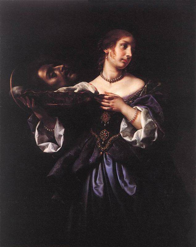 Carlo Dolci >> Salomé with the head of st. John the Baptist  |  (Oil, artwork, reproduction, copy, painting).