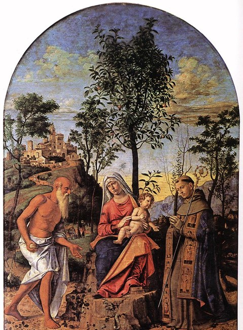 Giambattista Cima da Conegliano >> Madonna of the Orange Tree  |  (Tempera, artwork, reproduction, copy, painting).