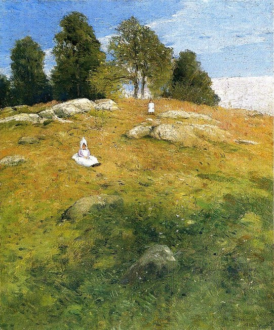Julian Alden Weir >> Summer Afternoon, Shinnecock Landscape  |  (Oil, artwork, reproduction, copy, painting).
