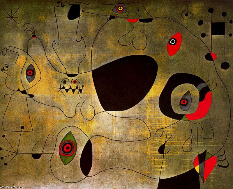 Joan Miro >> El puerto  |  (Oil, artwork, reproduction, copy, painting).