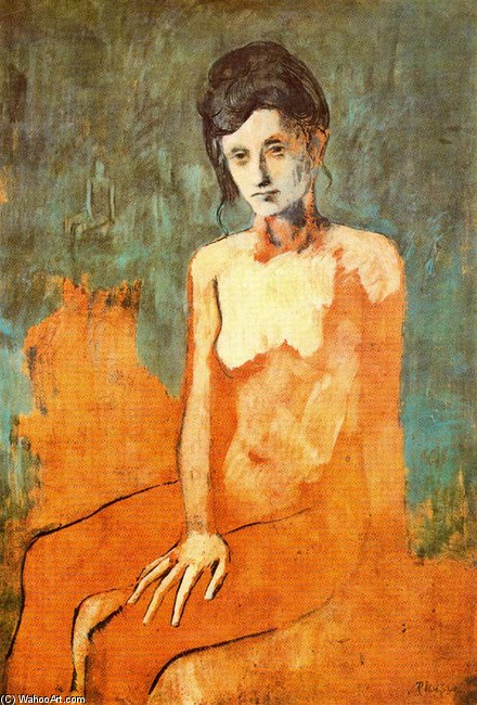 Seated Nude Woman Oil Artwork Reproduction Copy Painting