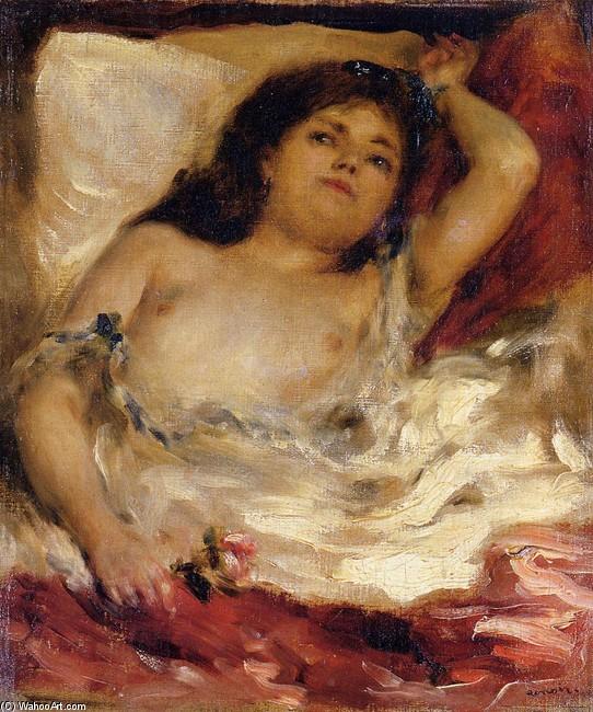 PierreAuguste Renoir Reclining SemiNude aka nude male half pretty nude male