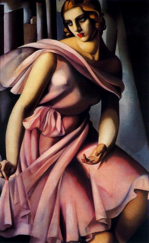Tamara de Lempicka >> Romana de la Salle, fille du duc de la Salle  |  (Oil, artwork, reproduction, copy, painting).