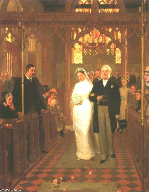 Edmund Blair Leighton >> Till Death Us Do Part  |  (Drawing, artwork, reproduction, copy, painting).