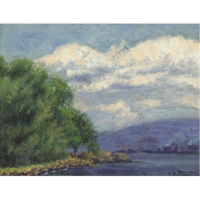 Edward Henry Potthast >> Hudson Valley Landscape  |  (Drawing, artwork, reproduction, copy, painting).