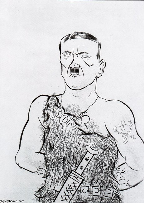 George Grosz >> Siegfried Hitler  |  (, artwork, reproduction, copy, painting).