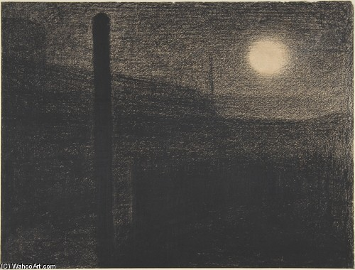 Georges Lemmen - Courbevoie. Factories by Moonlight