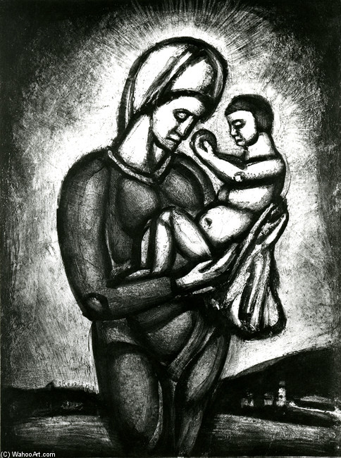 Georges Rouault >> In These Times Blacks boasting and unbelief, Our Lady of the End Lands Vigilante  |  (, artwork, reproduction, copy, painting).