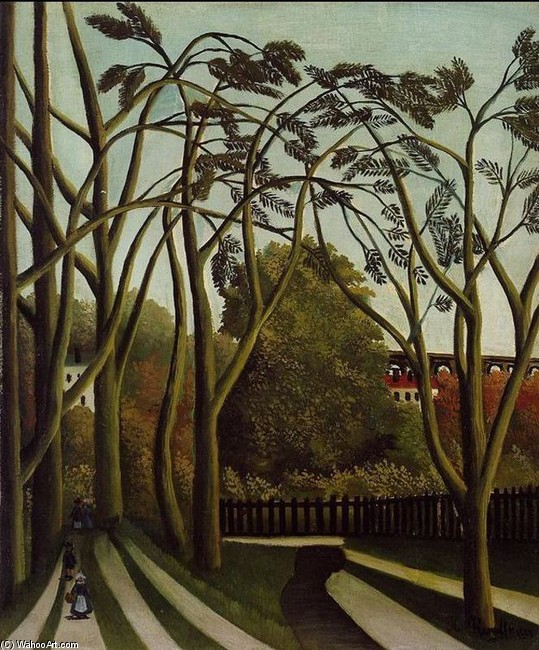 Henri Rousseau - Banks of the Bièvne Near Bicêtre, Spring