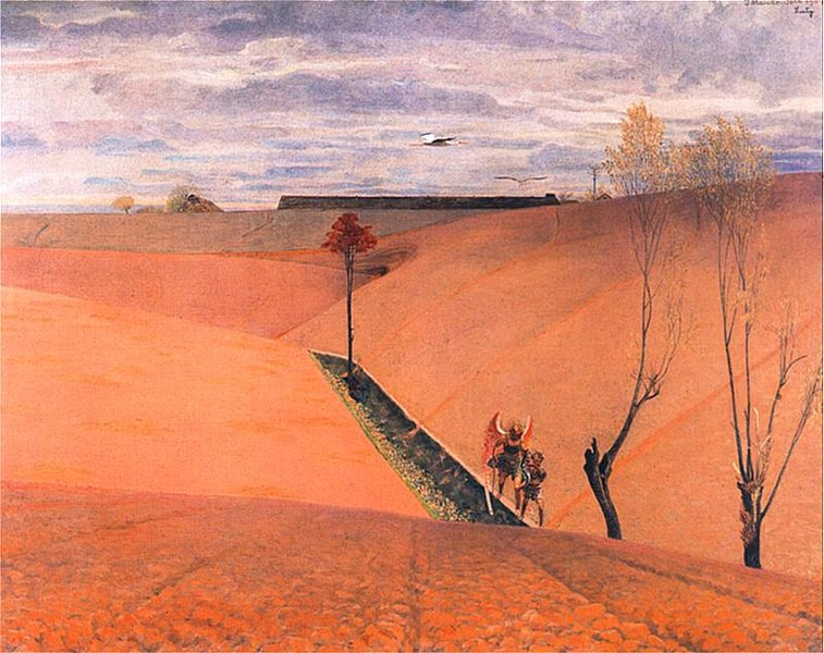 Jacek Malczewski >> Landscape with Tobias (Spring)  |  (, artwork, reproduction, copy, painting).