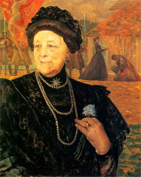 Jacek Malczewski >> Portrait of a mother in law - Mary Gralewski  |  (, artwork, reproduction, copy, painting).