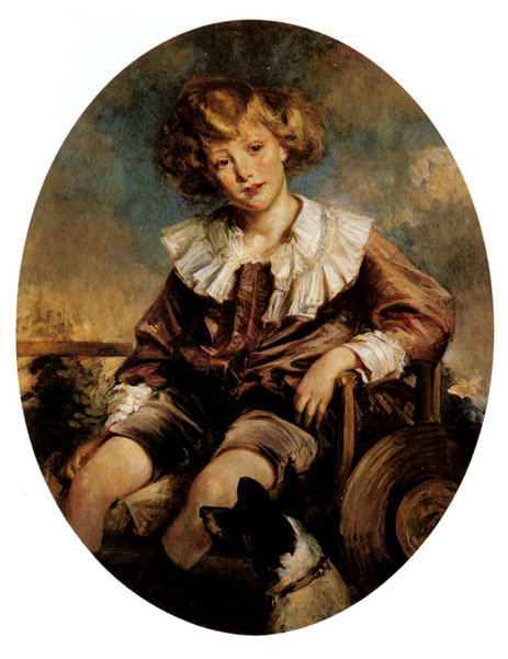 Jacques-Emile Blanche >> Portrait Of Antonin De Mun As A Young Boy  |  (, artwork, reproduction, copy, painting).