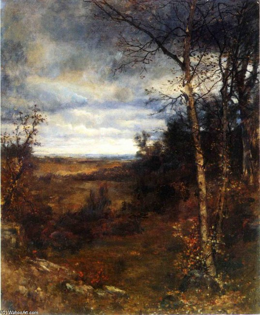 Jervis McEntee >> Fall Landscape  |  (, artwork, reproduction, copy, painting).