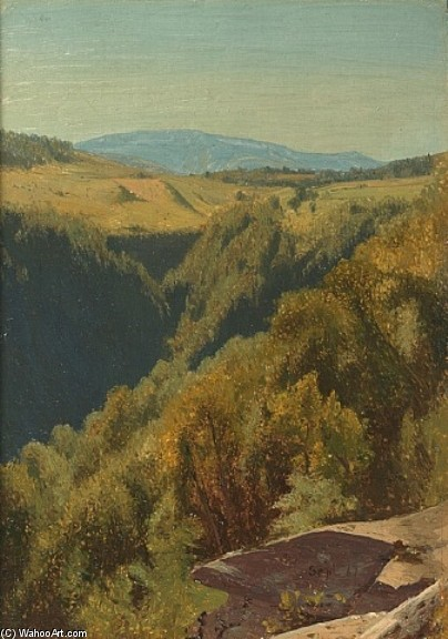 Jervis McEntee >> Summer Hills, Hunter Mountain  |  (, artwork, reproduction, copy, painting).
