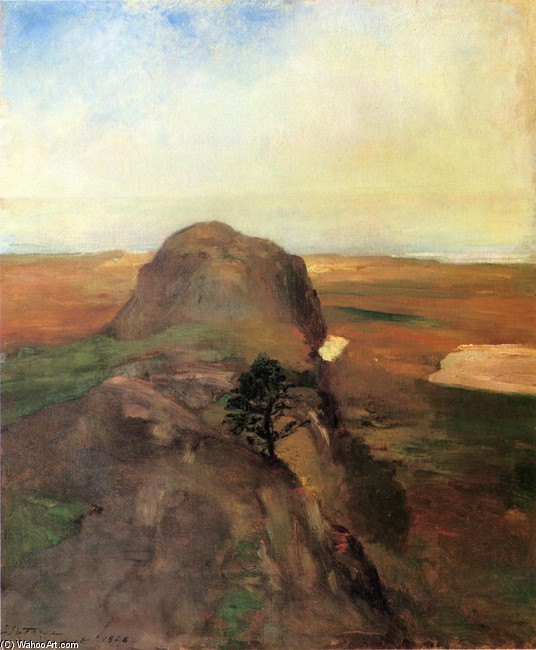 John La Farge - Autumn Study, View over Hanging Rock, Newport, R.I. (aka Bishop Berkeley's Rock)