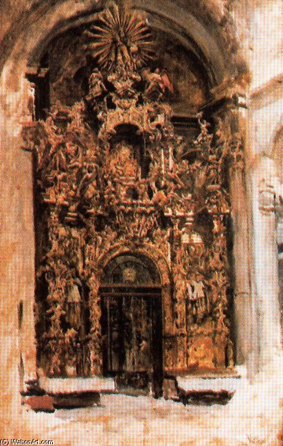 José Villegas Cordero >> Altarpiece Of The Church Of The Savior In Seville  |  (, artwork, reproduction, copy, painting).